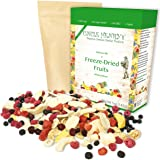 Freeze Dried Fruit: 9 Delicious Fruits Strawberry, Blueberry, Raspberry & More. 142g (5oz) Large Bulk Re-Sealable Kraft Bag i