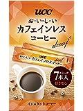 UCC おいしいカフェインレス スティックコーヒー インスタントコーヒー 7P 14g