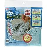 アイメディア(Aimedia) 浴室排水口カバー ホワイト 30枚入 排水口シール お風呂の髪の毛とり 1006268