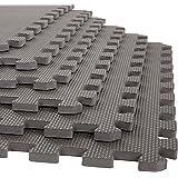 Foam Mat Floor Tiles, Interlocking EVA Foam Padding by Stalwart – Soft Flooring for Exercising, Yoga, Camping, Kids, Babies,