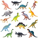 """BOLEY Monster (15-Pack) Large 7"""" Toy Dinosaurs Set - Enormous Variety of Authentic Type Plastic Dinosaurs - Great as Dinosaur"""
