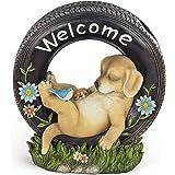 VP Home Chillaxing Welcome Puppy Dog Solar Powered LED Outdoor Decor Garden Light