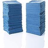 "Simpli-Magic 79184 Shop Towels 14""x12"", 50 Pack, Blue"