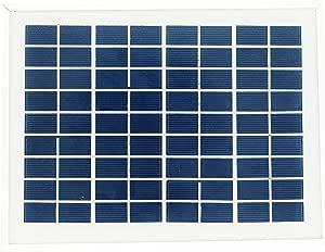 太陽電池 ソーラー パネル 5W DC 12V ワニ口 クリップ 付き