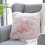 Uhomy 1 Pack Home Decorative Luxury Series Super Soft Style Artificial Fur Throw Pillow Case Cushion Cover for Sofa Bed Offic