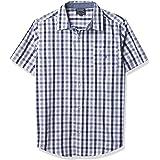 NAUTICA Boys Short Sleeve Plaid Woven Button Down Tee Short Sleeve Button Down Shirt