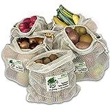 Reusable Produce Bags | Produce Bags Grocery Reusable | Organic Cotton Mesh Bag | Washable Mesh Bags for Vegetables | Mesh Pr