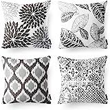 "Phantoscope New Living Series Decorative Throw Pillow Case Cushion Cover 18"" x 18"" 45cm x 45cm Set of 4 Grey"