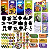 JOYIN 108 Pieces 18 Pack Assorted Halloween Art and Craft Stationery Kids Gift Set Trick Treat Price Party Favor Toy Includin