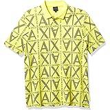 Armani Exchange A X Men's Regular Fit Print Short Sleeve Pique Polo Shirt