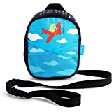 Munchkin Brica by-My-Side Toddler Safety Harness Backpack with Leash, Owl, Blue