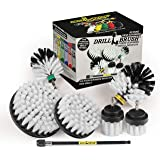 Drill Brush Ultimate Automotive Cleaning Kit with Extension - Truck Accessories - Glass, Upholstery, Seats, Window, Interior,