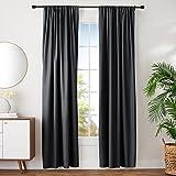 Amazonベーシック 遮光カーテン タッセル付き ブラック 107cm×244cm