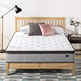 Zinus Support Plus iCoil Pocket Springs Queen Mattress Eurotop Bed - High Density Foam Layer - Mattress in a Box - Medium Fir