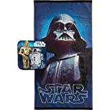 Jay Franco Star Wars Classic Vader 2 Piece Cotton Bath Towel Set, Darth Blue