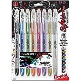 Pentel Sparkle Pop Metallic Gel Pen, 1.0mm Bold Line, Assorted Colors, Pack of 8 (K91BP8M)