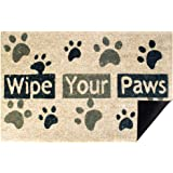 ACBungji Wipe Your Paws Front Door Mat Outdoor,18x28 inch Funny Small Rug Carpet for Home Farmhouse Office Entrance Inside Po