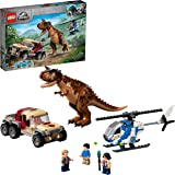 LEGO 76941 Jurassic World Carnotaurus Dinosaur Chase Toy with Helicopter & Pickup Truck for Kids Age 7+