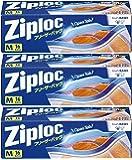 【3個セット】ジップロック フリーザーバッグ Mサイズ 16枚入 ジッパー付き保存袋 冷凍・解凍用 (縦18.9cm×横…