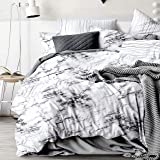 Marble Quilt Cover Set - All Size Bed Ultra Soft Quilt Duvet Doona Cover Set with Pillowcase (Single)