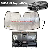 YelloPro Custom Fit Automotive Reflective Front Windshield Sunshade Accessories UV Reflector for 2019 2020 Toyota RAV4 LE, XL