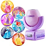 Projectables Disney Princess 6-Image LED Night Light Projector, Dusk-to-Dawn Sensor, Project Princesses Cinderella, Ariel, Au