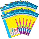 Redi-Tag Divider Sticky Notes, Tabbed Self-Stick Lined Note Pad, 60 Ruled Notes per Pack, 4 x 6 Inches, Assorted Neon Colors,