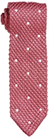 Dot Silk Knit Tie 118-23-2421: Pink