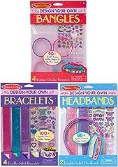 Melissa & Doug 8108 Design-Your-Own Jewelry-Making Kits - Bangles, Headbands, and Bracelets