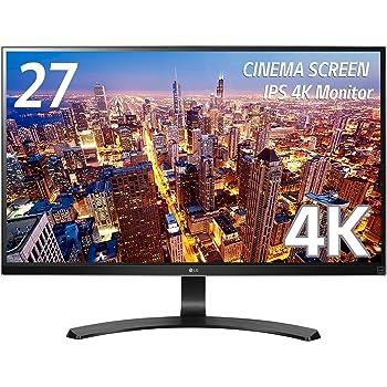 LG モニター ディスプレイ 27UD68-P 27インチ/4K(3840×2160)/IPS 非光沢/HDMI×2、DisplayPort/ブルーライト低減機能