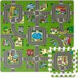 Sorbus Traffic Play mat Puzzle Foam Interlocking Tiles - Kids Road Traffic Play Rug - Children Educational Playmat Rug Baby P