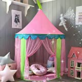 Children Play Tent Girls Princess Castle with Carry Bag for Indoor & Outdoor Use by Tiny Land