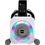 The RockJam Party Karaoke Machine With Bluetooth, 10Watt Speaker & Two Microphones