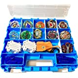 HOME4 Double Sided BPA Free Toy Storage Container - Compatible with Beyblade, Mini Toys, Small Dolls - Toy Organizer Carrying