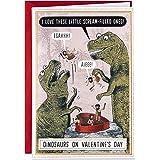 Hallmark Shoebox Funny Valentines Day Card (Dinosaurs on Valentines Day)