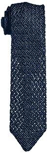 Solid Silk Knit Tie 118-23-2420: Navy