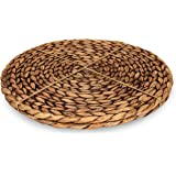 """CENBOSS Beautiful Woven Placemats Round Placemats for Dining Table (Brown Wash, 14.5"""" Set of 2)"""