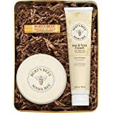 Burt's Bees Mama Bee Gift Set with Tin, 3 Pregnancy Skin Care Products - Leg & Foot Cream, Belly Butter and Original Beeswax