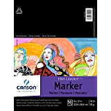 """Canson Artist Series Pro Layout Marker Pad, Semi-Translucent for Pen, Pencil and Marker, Fold Over, White, 9"""" x 12"""""""