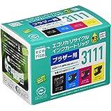 エコリカ ブラザーLC3111-4PK対応リサイクルインクカートリッジ ECI-BR3111-4P 通常容量