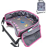 Kids Travel Tray | Bundle with | Bonus Back Seat Car Organizer by Moditty ? Activity Play Table.