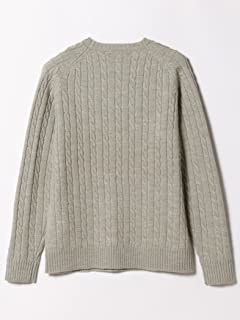 Wool Cable Crewneck Sweater 11-15-0881-103: Silver