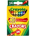 Crayola 24 Pack Regular Crayons, Perfect for Art, Colouring and Drawing, Classic Crayola Colours, Preferred by Teachers, Chil