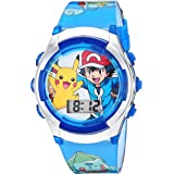 Pokémon Kids' Watch with Flashing LED Lights - Kids Digital Watch with Official Pokémon Characters on the Dial, Childrens Wat