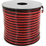GS Power's True 14 Gauge (American Wire Ga) 100 feet 99.97% OFC Stranded Oxygen Free Copper Red/Black 2 Conductor Bonded Zip