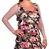 Sleevey Wonders Women's Basic Long Sleeve Mesh Sleeve Taupe
