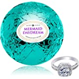 Bath Bomb with Ring Inside Mermaid Daydream Extra Large 10 oz. Made in USA (Surprise)