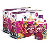 Happy Tot Organic Stage 4 Baby Food Love My Veggies Banana Beet Squash & Blueberry, 4.22 Ounce (Pack of 16) (Packaging May Va