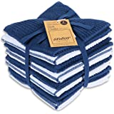 AMOUR INFINI Terry Dish Cloth | Set of 8 | 12 x 12 Inches | Durable, Super Soft and Absorbent |100% Cotton Dish Rags | Perfec