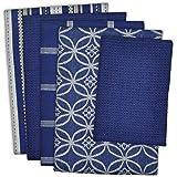 DII 100% Cotton, Ultra Absorbent, Oversized, Washing, Drying, Basic Everyday Kitchen Dishtowel 18 x 28 & Dishcloth 13 x 13, S